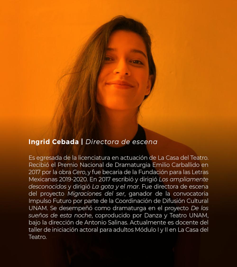 Ingrid Cebada | Directora de escena