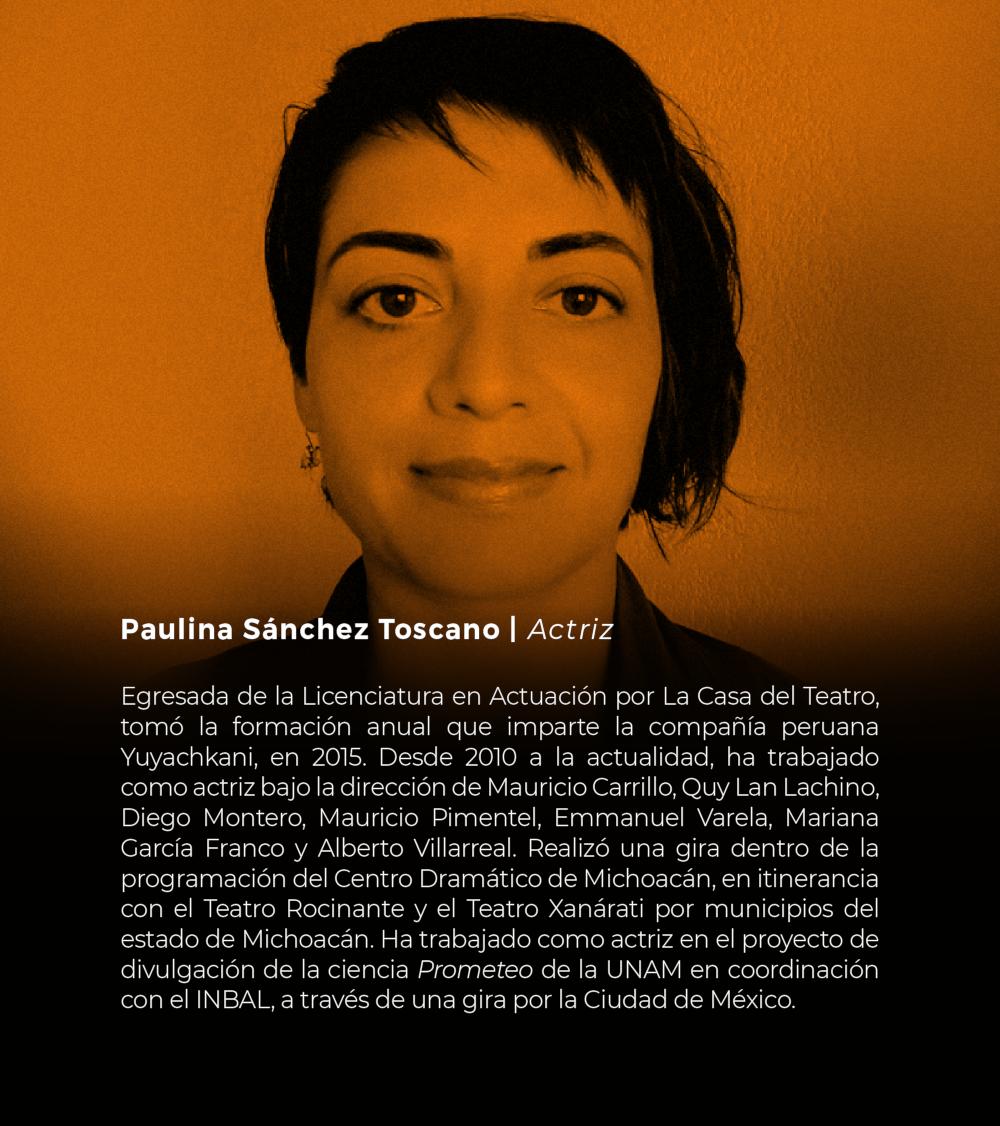 Paulina Sánchez Toscano | Actriz