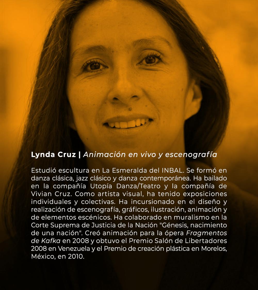 Lynda Cruz   Animación en vivo y escenografía