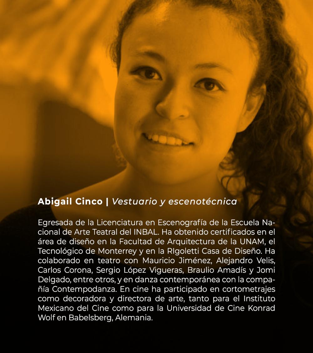 Abigail Cinco   Vestuario y escenotécnica