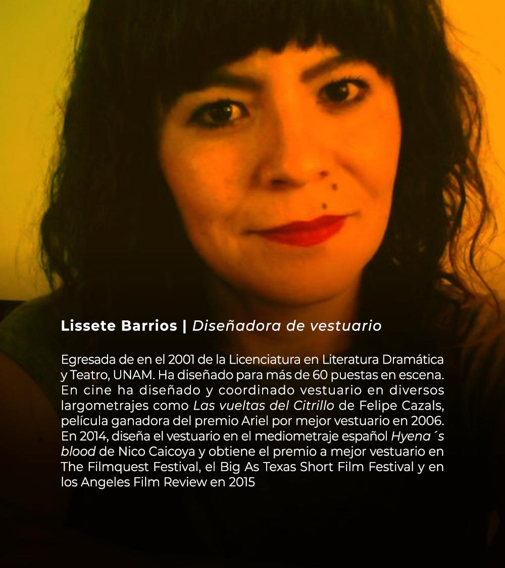 Lissete Barrios | Diseñadora de vestuario